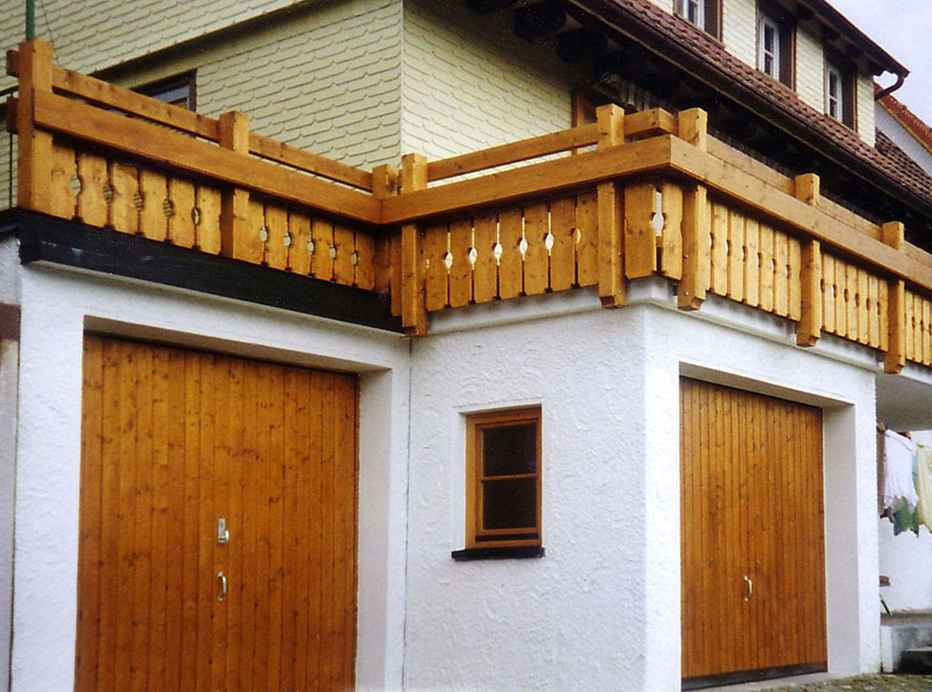 Balkon mit Verzierungen