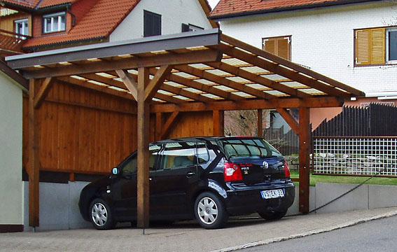 Carport-Pultdach-Wellplatte