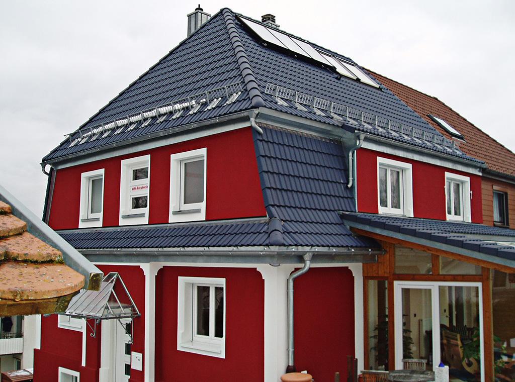Umdeckung mit Wärmedämmung  Hauptdach innen sichtbar
