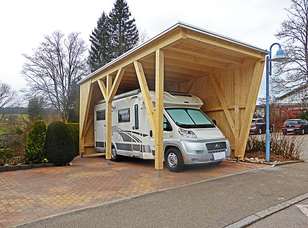 Carport für Wohnwagen
