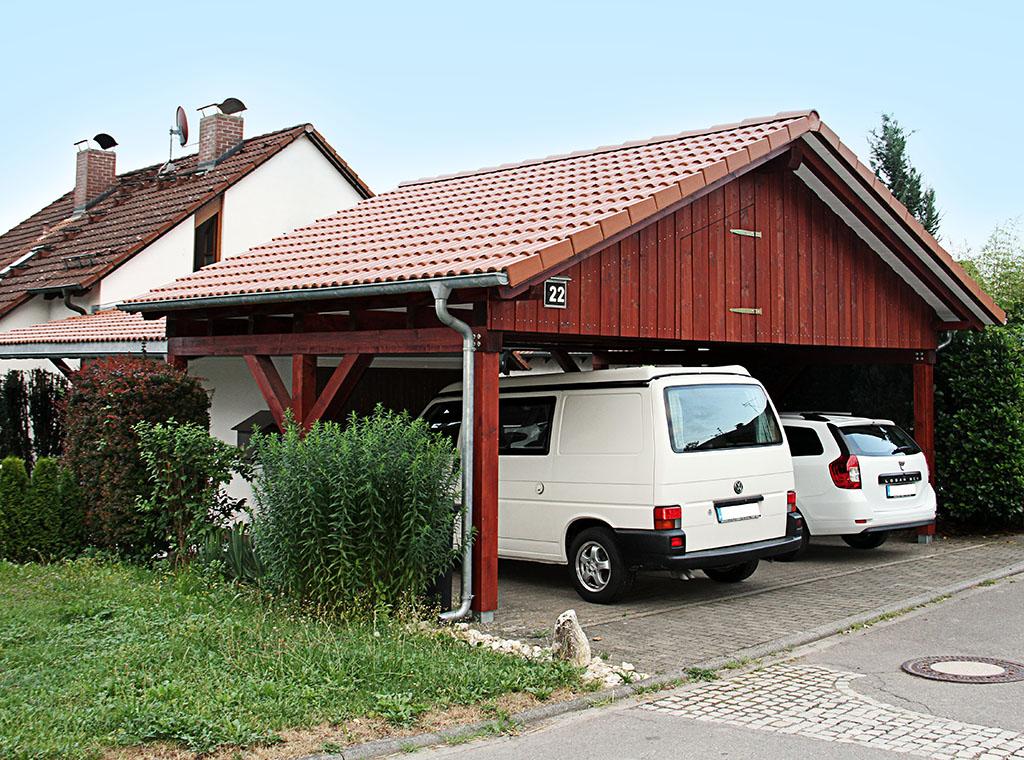 Doppelcarport mit anschliessender Garagenüberdachung